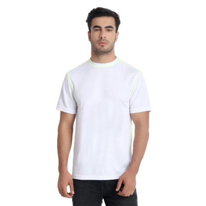 Reich Color Dot Net Round Neck T Shirt White