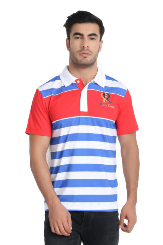 Reich Color 4 Way Lycra Sublimation Polo T Shirt Multi Colour