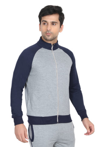 Reglun Sweat Shirt Grey Navy