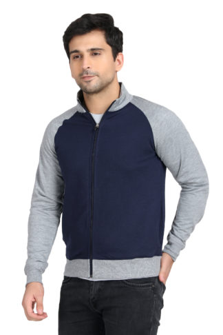 Reglun Sweat Shirt Navy Grey