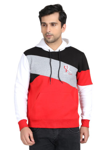Pc Fleece Multi Color White Hoody
