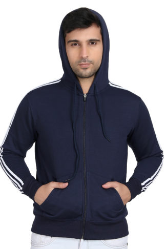 Fleece Three Patti Hoody Navy