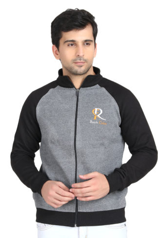 Pc Fleece Reglun Sweat Shirt Navy Grey