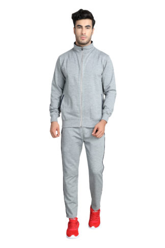Fleece Track Suit Collar Grey