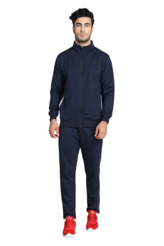 Fleece Track Suit Collar Navy